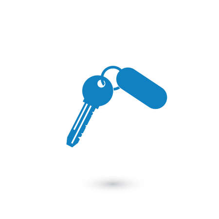 For rent key icon on background. Vector icon