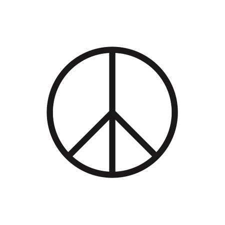Peace Symbol Vector Icon on white background