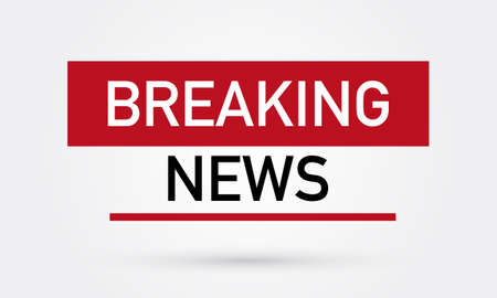 Breaking News Isolated on Abstract Flat Background Design Illustration. Vector  イラスト・ベクター素材
