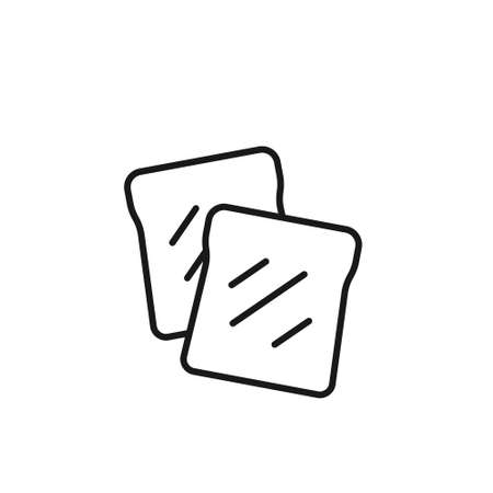 Toast bread icon line symbol. Premium quality isolated loaf element in trendy style.