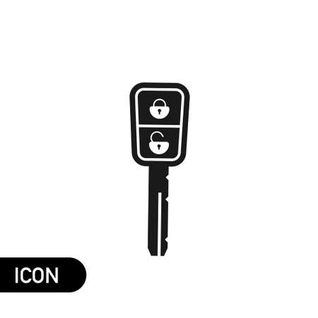 Car Key and of the alarm system icon on white. Vector sign