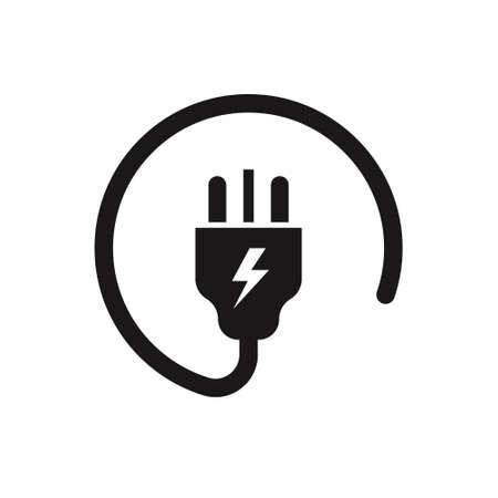 uk electric plug icon on white background. Vector