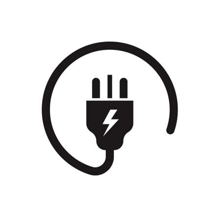 uk electric plug icon on white background. Vector