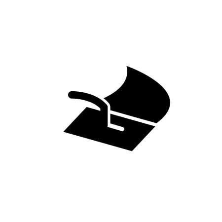 Stucco Plasterer Logo. Vector logo on white background