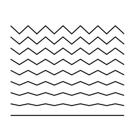 Wave set in abstract style on white background. Decoration element. Vector. EPS 10 Illustration