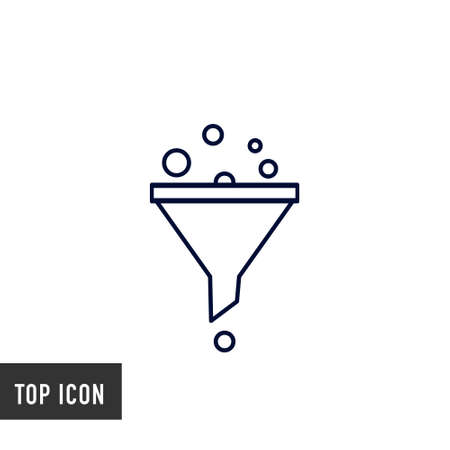 Adjustment icon vector on white background. filter sign