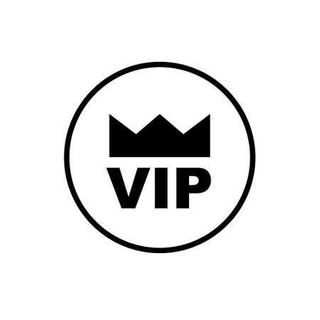 Vip icon in flat style on white background. Vector. EPS 10