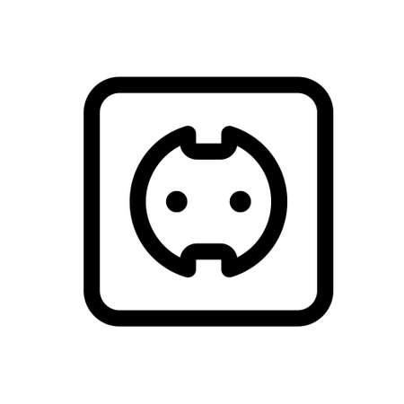 socket outlet electric plug icon design template. Vector icon. EPS 10