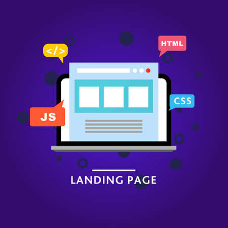 Landing page. Web site. Vector template. Landing illustration