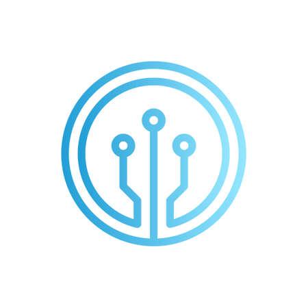 Electronic technology logo design. Electronic vector logo