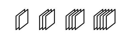 layer icon on white, vector line illustration. Stock icon