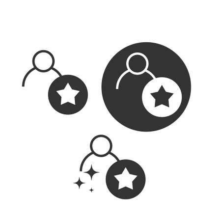 Employee skills icon. star sign. rating symbol. Vector