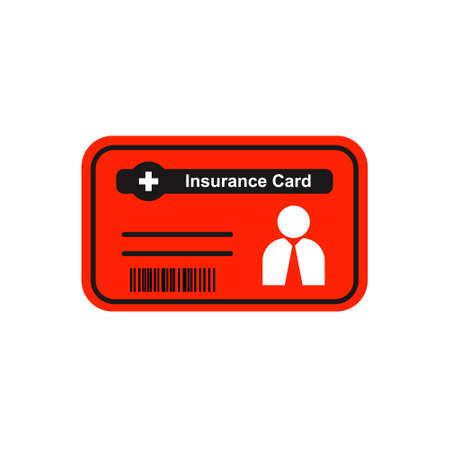 Insurance medical card. Vector icon on white background