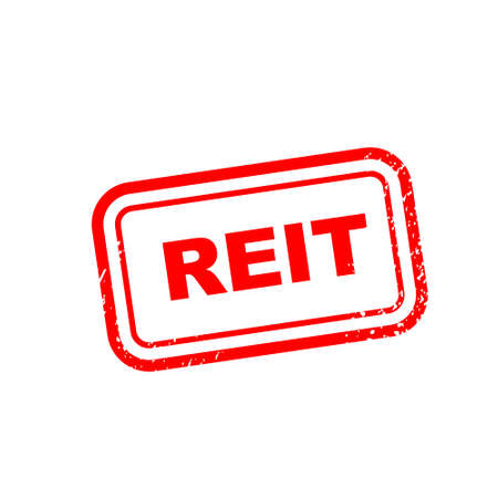 reit square isolated sign. Vector. EPS 10