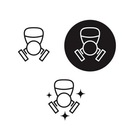 Safe Life. Gas Dirty Air Mask. Thin Line Icon