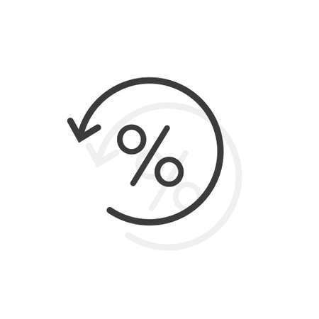 Seasonal sale. Get discounts. Percent sign. Discount history. Vector icon