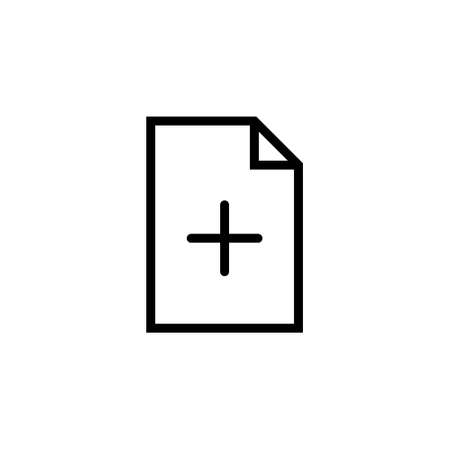 Add new document vector icon on white background. Stock icon