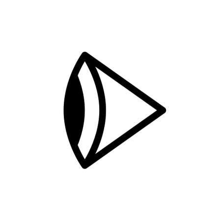 Eye side icon on white background, vector illustration
