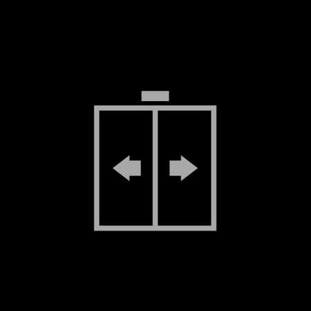 Sliding door vector icon on white, automatic door icon