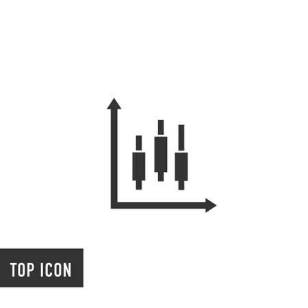 diagram data vector icon on white background