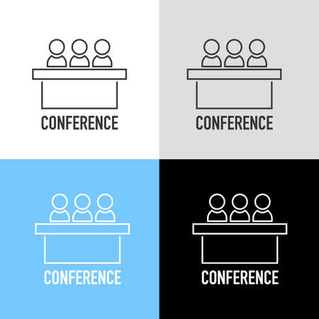Set of jury group committee icon. Vector element for info graphic. Conference