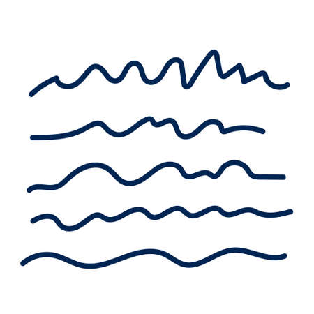 Wave doodle logo icon sign Hand drawn. Vector illustration