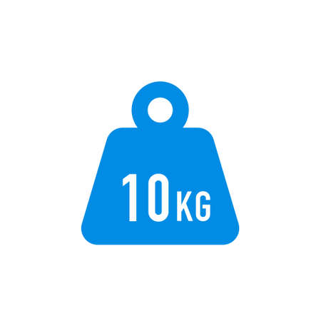 Simple KG weight silhouette icon on white background, isolated