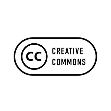 Creative commons rights management sign with circular CC icon.