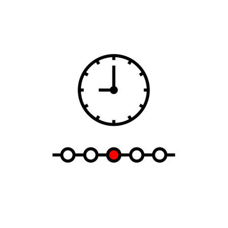 Timeline outline icon. Thin line concept element from fintech technology icons collection.