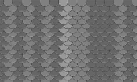 Black roof tiles pattern. Vector background. Roof background