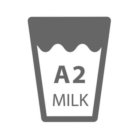 A2 milk  on white background. vector illustration
