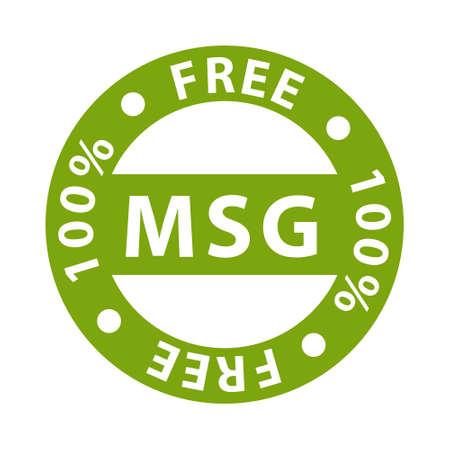 Mono sodium glutamate label sign, vector illustration. Vettoriali