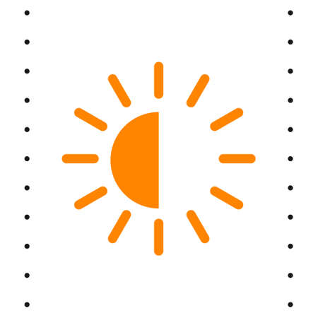 brightness contrast vector icon. brightness contrast black sign on white background