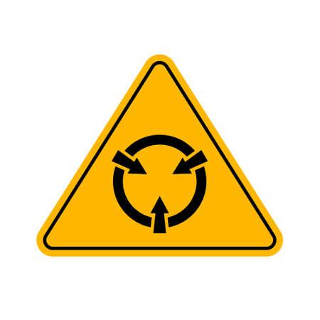Electrostatic Sensitive Device (ESD) Symbol Sign, Vector Illustration.