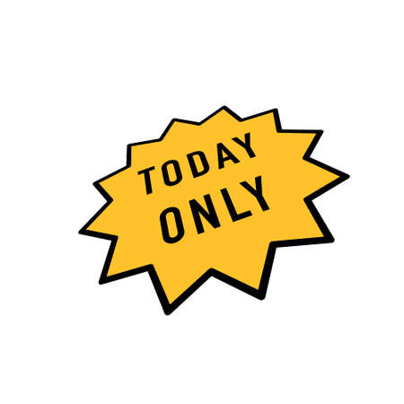 Today only sale symbol. Special offer sign. Best price. Vector Vettoriali
