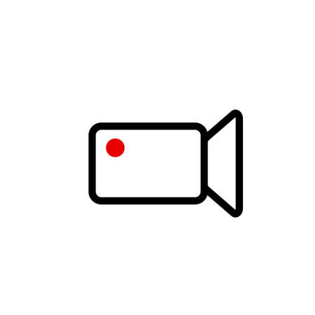 Camera icon. Isolated camcorder and camera icon line style. Vettoriali