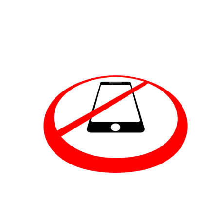No phone sign on white background. No phone label Vettoriali
