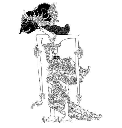 shadow puppets: Dewi Sukesi Illustration