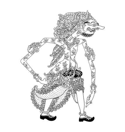 shadow puppets: Batara Dwapara Illustration