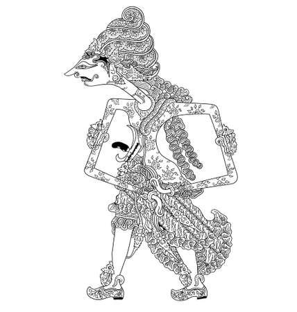 shadow puppets: Sang Hyang Mahadewa
