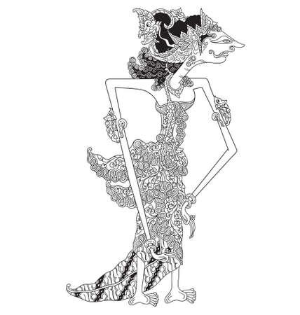 Gendari Illustration