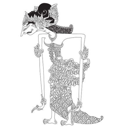 Hagnyanawati a character of traditional puppet show, wayang kulit from indonesia.