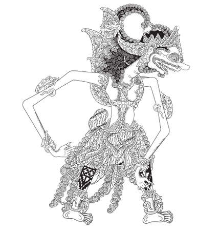 Hamsa a character of traditional puppet show, wayang kulit from indonesia.