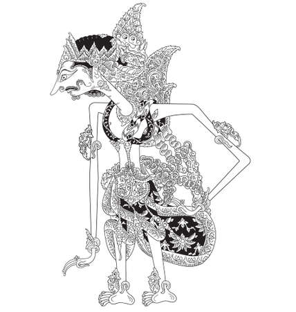 Hartadriya a character of traditional puppet show, wayang kulit from  indonesia.