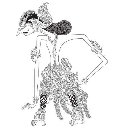 Kumaladewa, a character of traditional puppet show, wayang kulit from java indonesia.