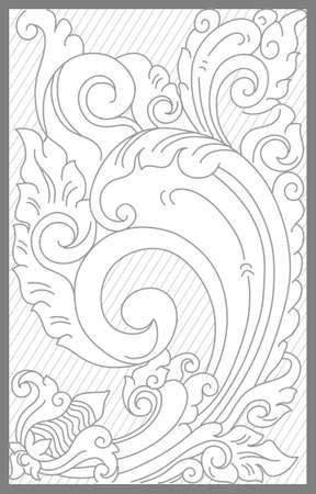 Balinese floral decoration motif