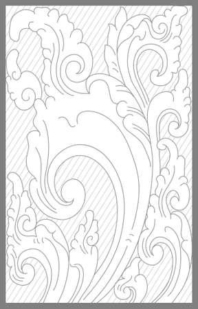 Cirebon floral decoration motif