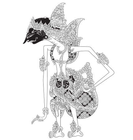 Mandrapati, a character of traditional puppet show, wayang kulit from java indonesia.