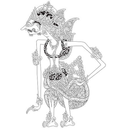 Sentanu, a character of traditional puppet show, wayang kulit from java indonesia.