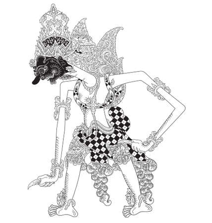 Tuguwasesa, a character of traditional puppet show, wayang kulit from java indonesia.